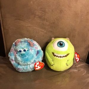 Other - Sulley & Mike Ty Beanie Balls